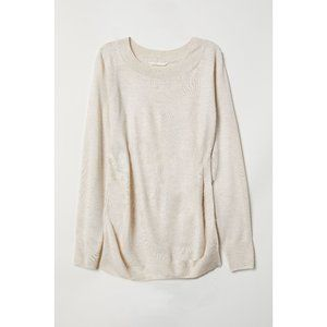 H&M beige light knit top